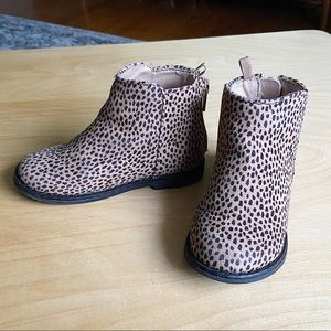 Baby Gap leopard print boots